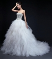 Custom Made New Sweetheart Beading Ball Gowns With Train HS8023