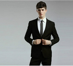 Black Groom Suits Man Suit Groomsman Tuxedo S3019