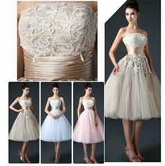新款抹胸短款新娘婚紗 韓式婚紗 XLF005