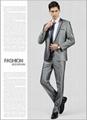一粒扣銀色新郎西裝套裝 男士西裝套裝