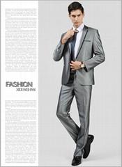 一粒扣銀色新郎西裝套裝 男士西裝套裝 62