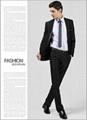 一粒扣黑色新郎西裝套裝 男士西裝套裝