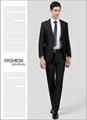 2粒扣黑色新郎西裝套裝 男士西裝套裝