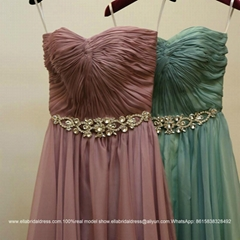 Summer New Sweetheart Floor Length A Line Chiffon Evening Dress Lace Up jb009