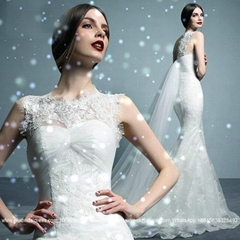 New Lace Mermaid Wedding Dress With Train 1623