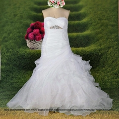 Amazing Sexy Mermaid Ruffled Organza Wedding Dress G193