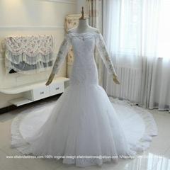 新款婚紗禮服鑽包肩露背拖尾新娘結婚婚紗魚尾顯瘦 G196