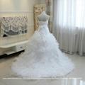 Luxurious Sweetheart Organza Satin Ruffled Ball Gown Wedding Dress G197