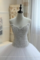 Heavy Beading Sexy Big Ball Gown Wedding Dress With Long Train G209