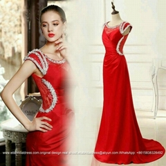 New Arrival Red Satin La