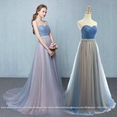 Custom Made Strapless Heavy Beading A Line Floor Length Prom Dresses PS005