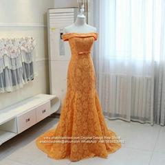 Cheap Off Shoulder Mermaid Lace Evening Dress E197