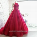 Wholesale New  Red A Line Beaded High Quality Wedding Gown G227