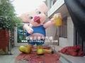 充气卡通气模卡通猪/红裙猪/卡