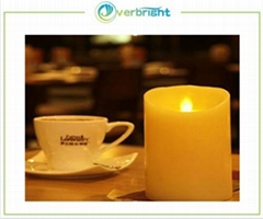 Ivory Wax Flameless Moving Wick LED Candle