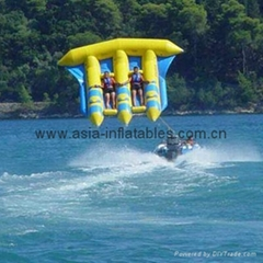 Hot Sales Inflatable Flying Fish boat for water towable games