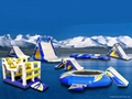 water floating inflatable seesaw,Slide and trampaulin for water parks