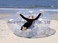 Airtight inflatable coco nut ball for sand beach games