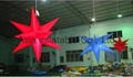 inflatable hanging star with LED light for indoor party/holiday house decoration