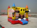 2014 New Design Happy Clown Cartoon Character Inflatable Bouncer for kids