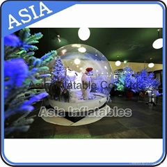 Transprent inflatable snow globe for holiday and exhibtion decoration