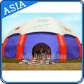 Inflatable spider tent dome from