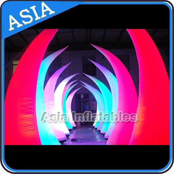 Inflatable cones with led rgb light for stage decoration for 57in led lighted peacock outdoor christmas decoration