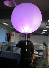 LED Lighting Advertisement Inflatable Backpack Ball