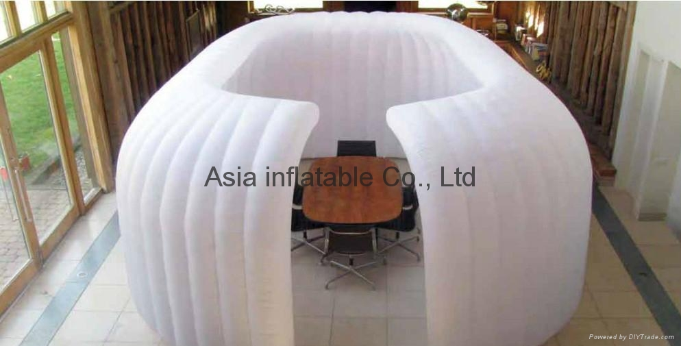 Outdoor mobile inflatable lounge office exhibition tent 1