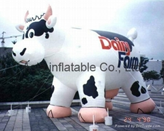 PVC giant inflatable cow
