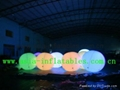 inflatable decoration/balloon with RGB light for outdoor house/event decoration