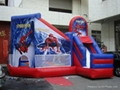 Inflatable cartoon bouncers / Spider-man design for children park / zoo
