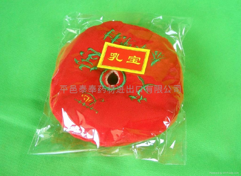 Bags of leaves treated moxibustion for Protect breast