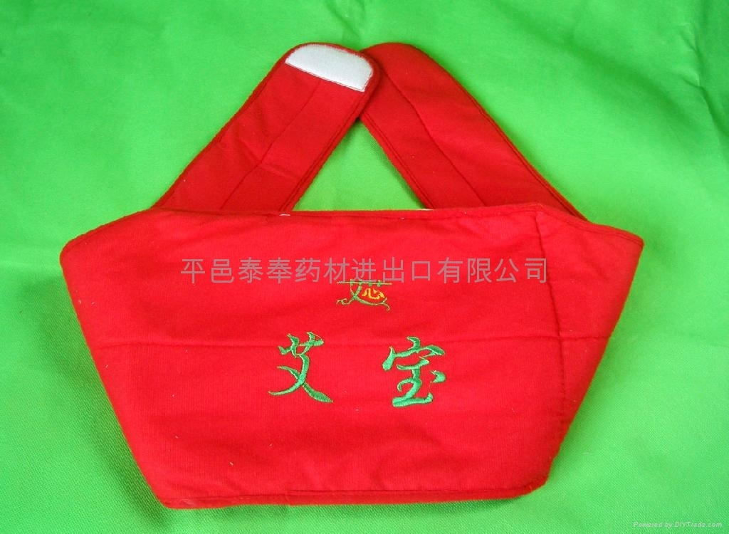 Bags of leaves treated moxibustion for Protect waist