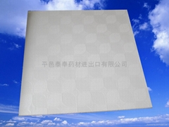 Vinyl laminated gypsum board