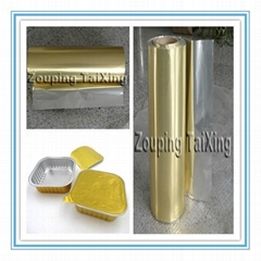golden aluminium foil + pp film
