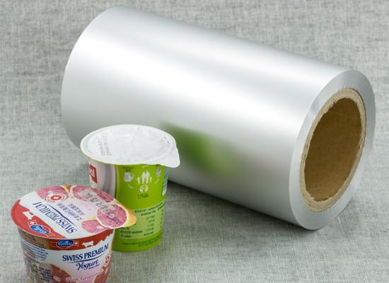 aluminium foil with ps heat seal for yogurt lids  1