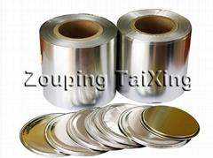 lacquer aluminium foil for peel off ends