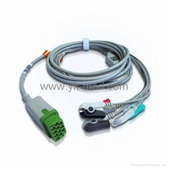 Compatible with GE Healthcare Marquette Direct Connect, One-Piece ECG Cable