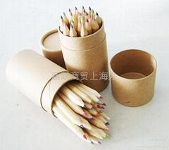 牛皮纸筒装彩色铅笔