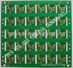 四层收音机蓝牙模块半孔PCB电路板