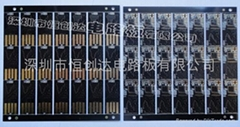 0.2MM厚U盘PCB线路板