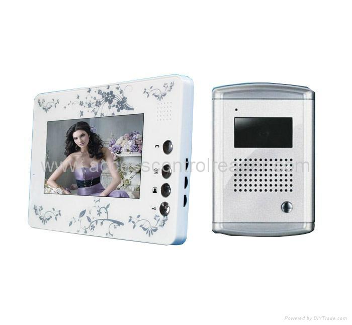 7 inch video door phone night vision with aluminium  camera
