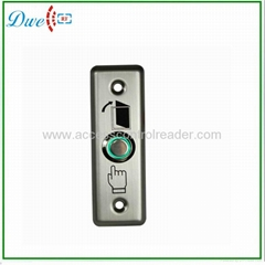 Stainless steel access control exit button with  led light