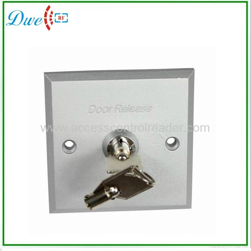 Aluminum alloy access control exit button switch with Key DW-803E  1
