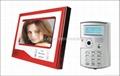 7 inchTFT LCD monitor handfree  video door phone unlock by ID card or password