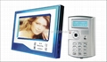 7 inch color monitor handfree video door phone unlock by ID card or password