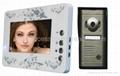 video door phone 6 LED lights,nightvision.handfree indoor monitor,7 inch TFT