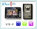video door phone 6 LED lights,nightvision.handfree indoor monitor,7 inch TFT