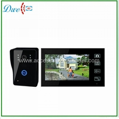 7 inch wireless video door phone for villa intercom system